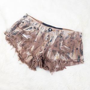 One Teaspoon Cutoff Distressed Jean Shorts